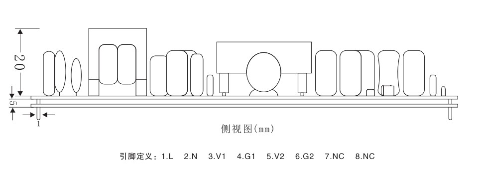产品品牌: BPE 产品型号: BPD2.5-WD16P16-LY 应用场合: 三相智能电表辅助电源 输入电压: 85~300Vac或100~370Vdc 输出功率: 2.5W 输出路数: 双路 EMC性能: 良好 体积大小: 90*30*25mm(长*宽*高) 封装形式:裸板形式